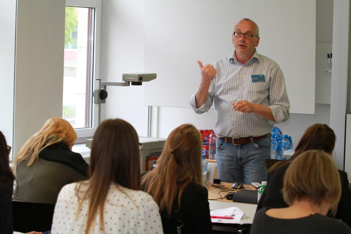 Armin Sieber am Workshop an der Litigation-PR-Tagung 2017