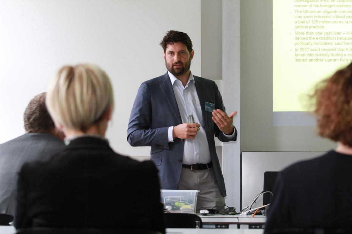 Martin Jenewein am Workshop an der Litigation-PR-Tagung 2017