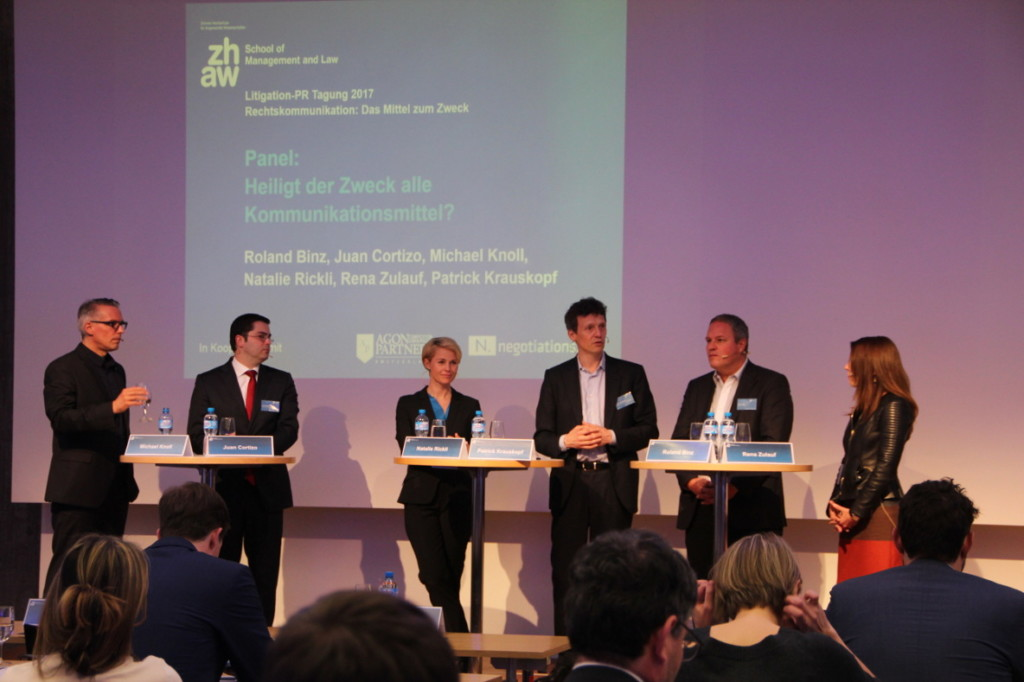 Panel-Diskussion an der Litigation-PR Tagung 2017