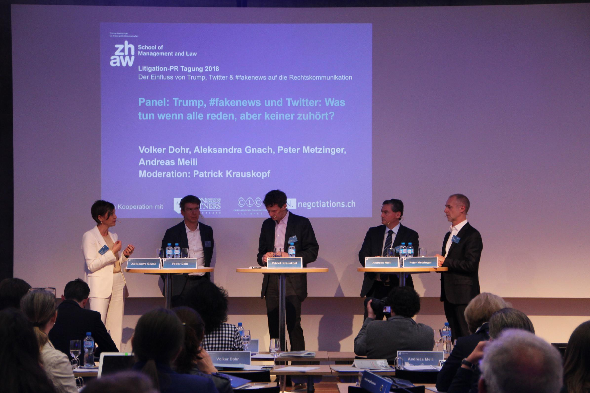 Das Panel der Litigation-PR-Tagung 2018