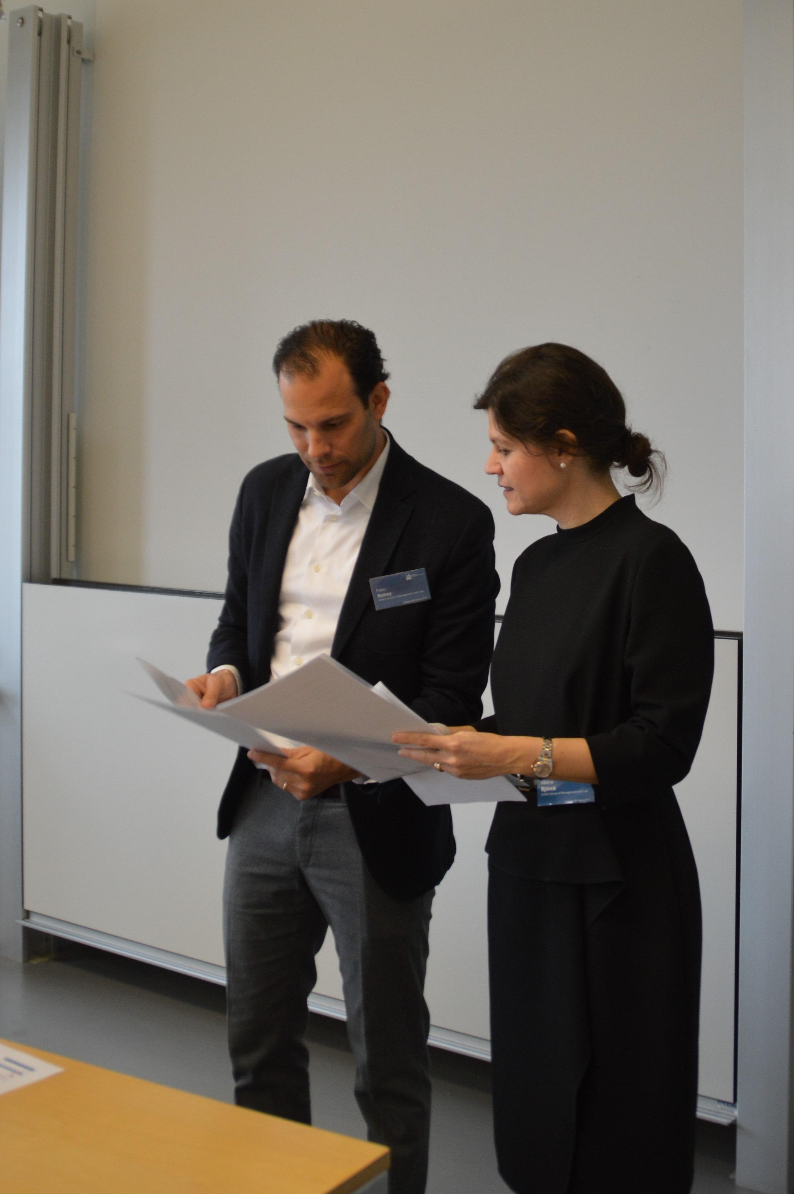 Albena Björck und Fabio Babey an der Litigation-PR-Tagung 2019